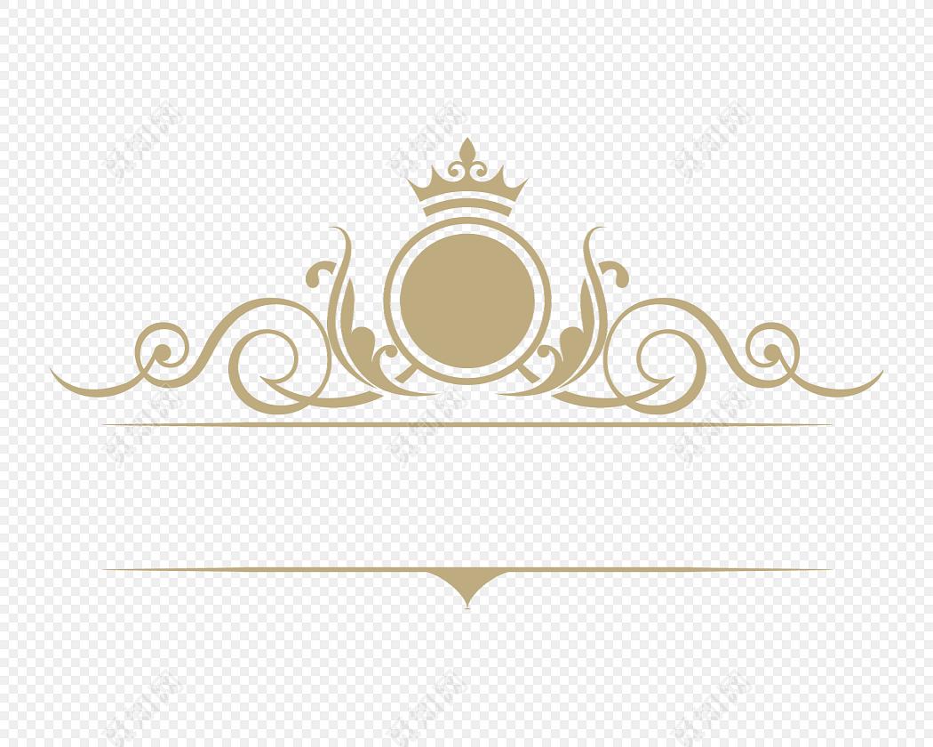 金色欧式花纹边框分割线矢量图图片素材免费下载_觅