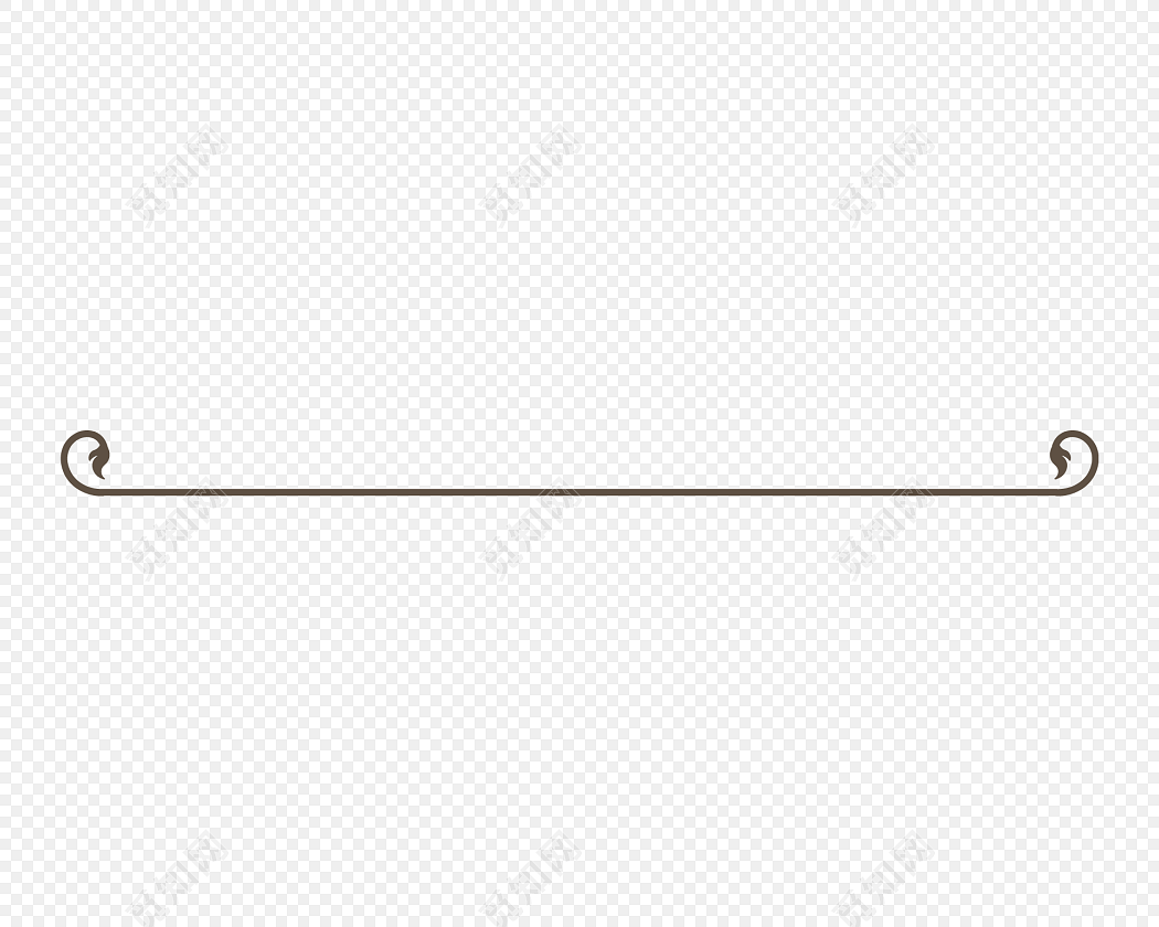 eps 免费下载eps png素材黑白剪影清新花藤藤蔓花边边框分割线标签