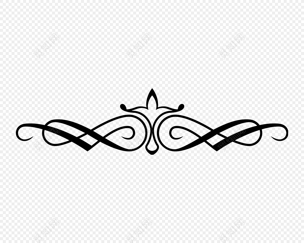 png素材创意黑白剪影清新花藤藤蔓花边标签:花边边框 免抠素材 矢量