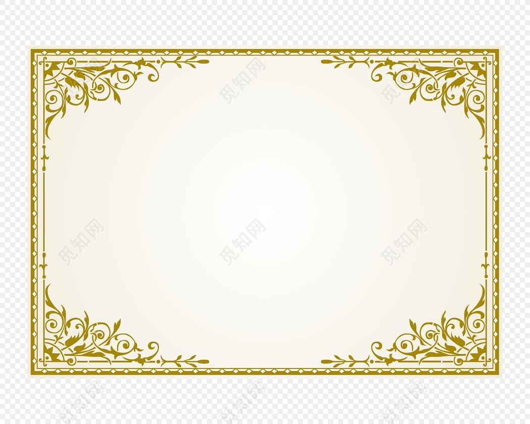 欧式金色花边花纹边框