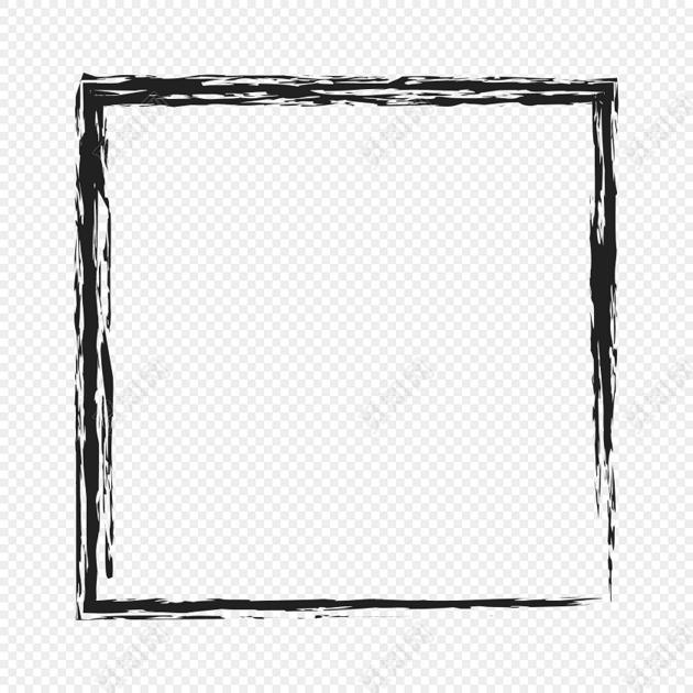 正方形水墨边框免费下载_png素材_觅知网