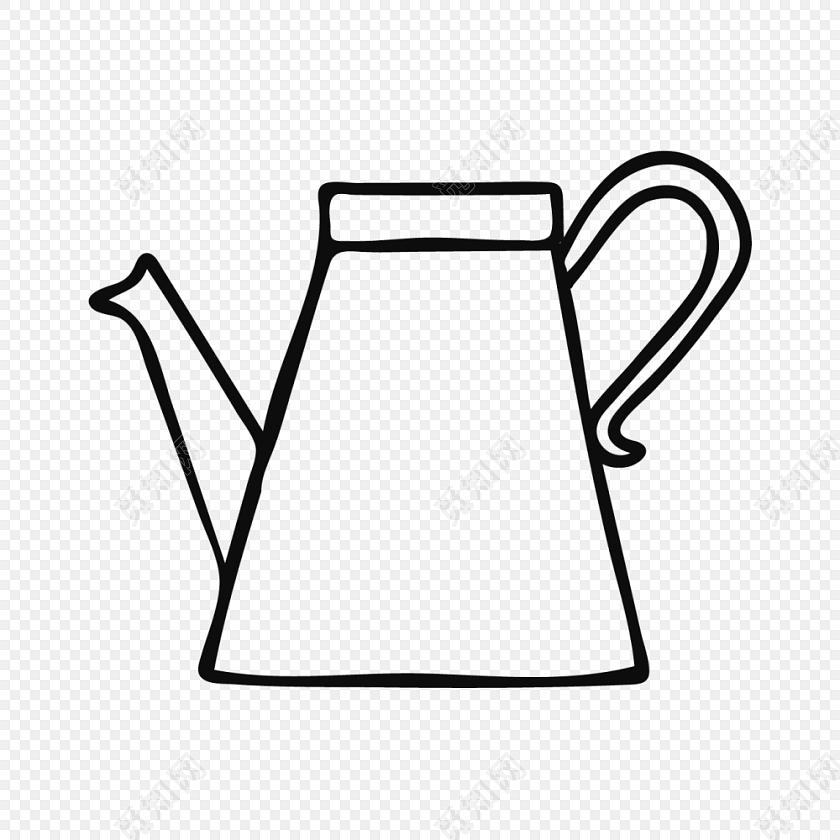png素材 黑白卡通水壶简笔画矢量素材标签:免抠素材 简笔画 儿童 绘画