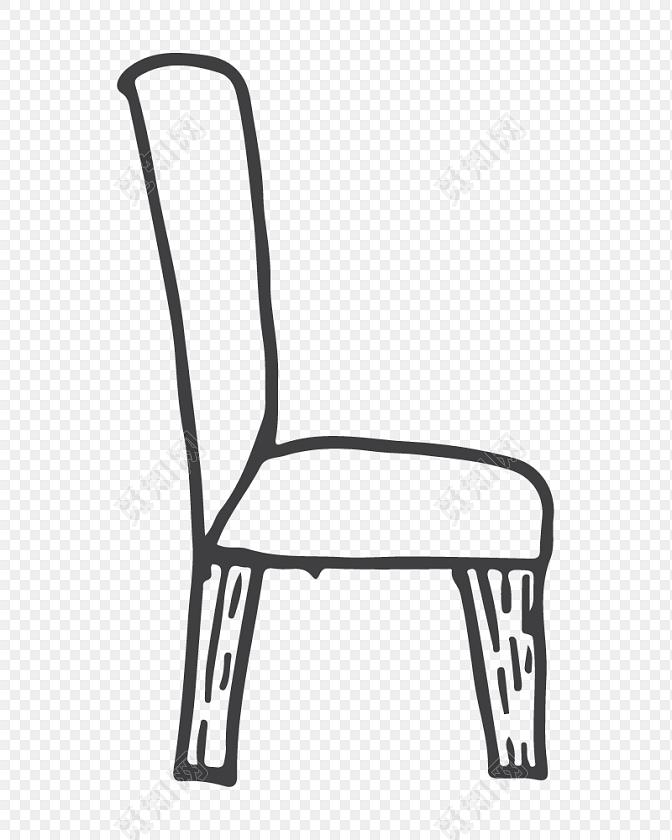 创意椅子简笔画矢量素材免费下载 觅知网