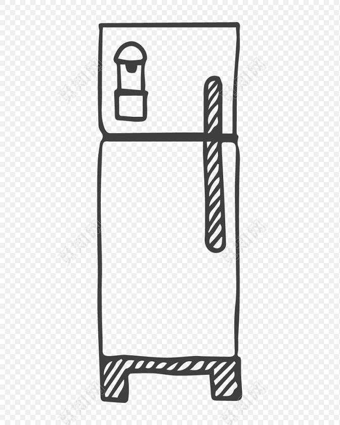 冰箱简笔画素材下载免费下载 觅知网