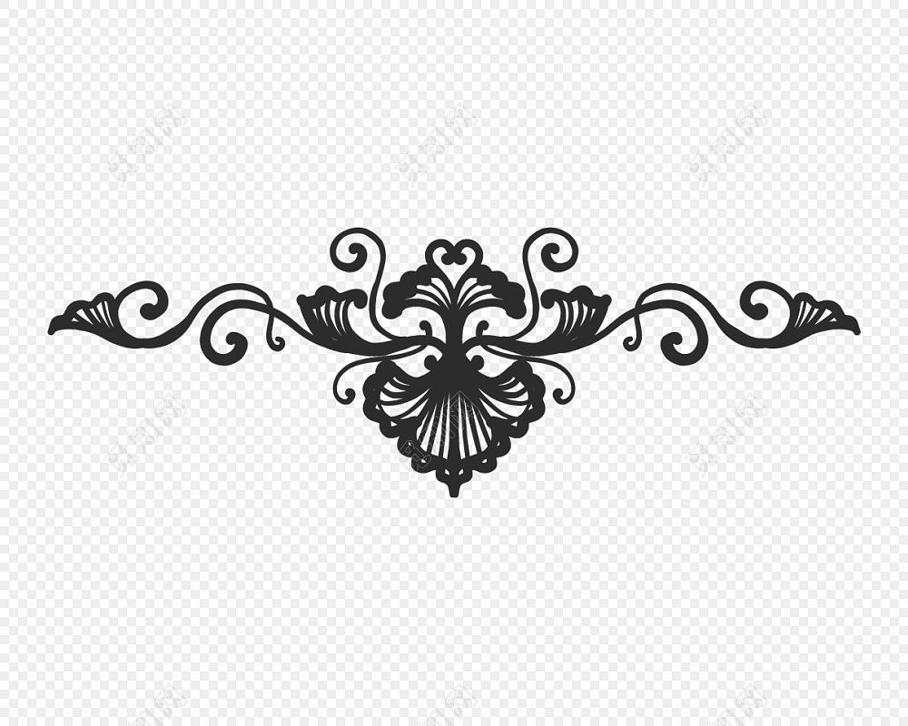 黑色欧式装饰矢量素材