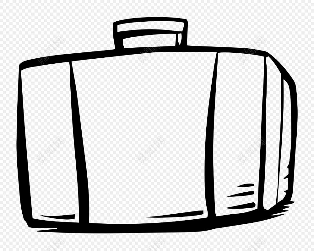 行李箱简笔画卡通素材