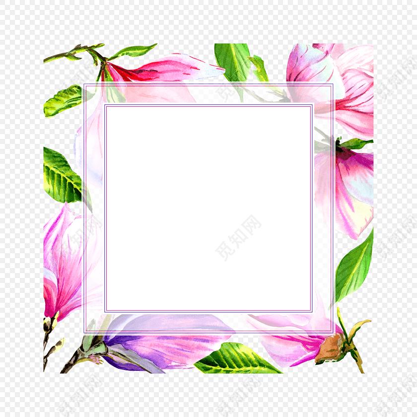 手绘卡通花朵边框素材