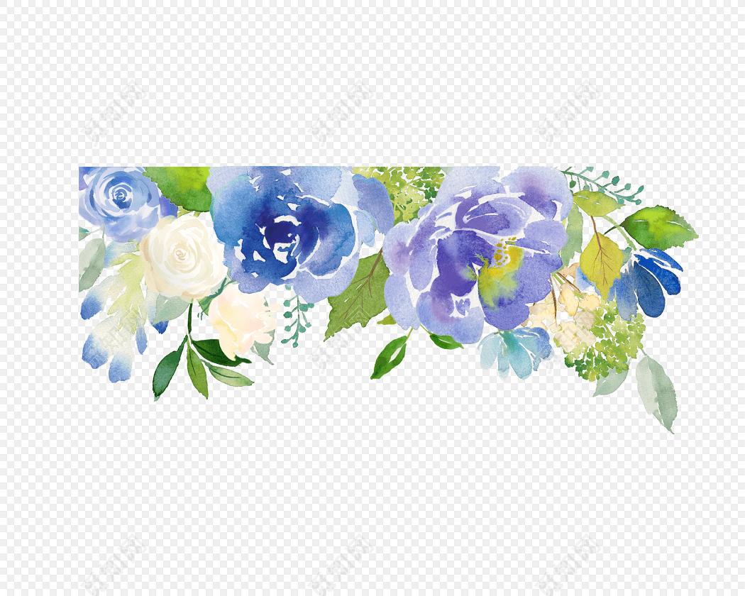 手绘卡通花朵背景素材