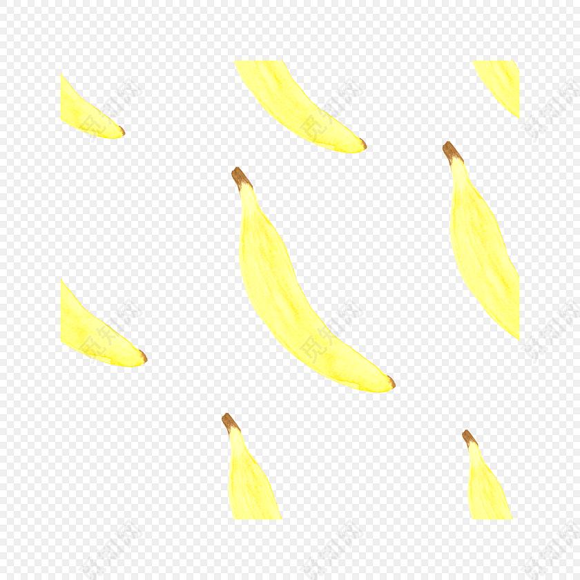 黄色香蕉手绘包装纸设计矢量图片