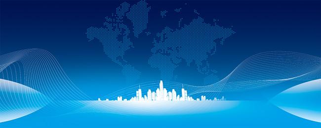 藍色商務商業科技晚會展板背景公司