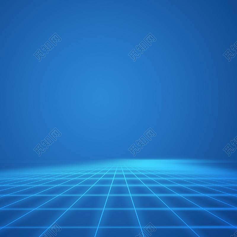 蓝色科技淘宝主图免费下载_背景素材_觅知网