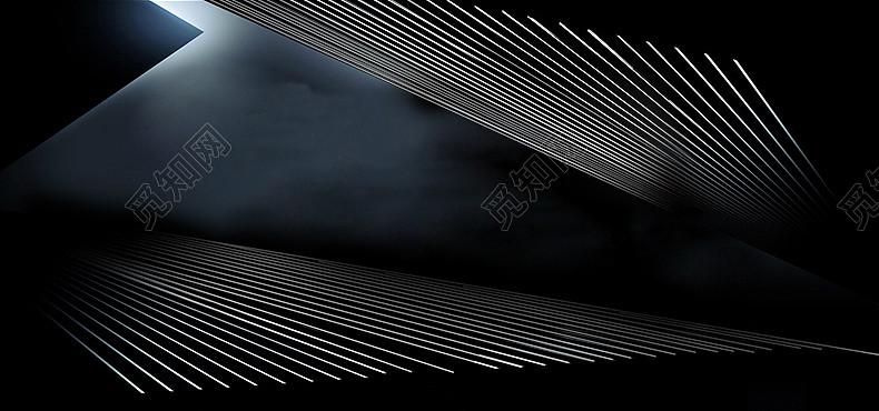 黑色黑白条纹炫酷几何线条背景免费下载_背景素材_觅