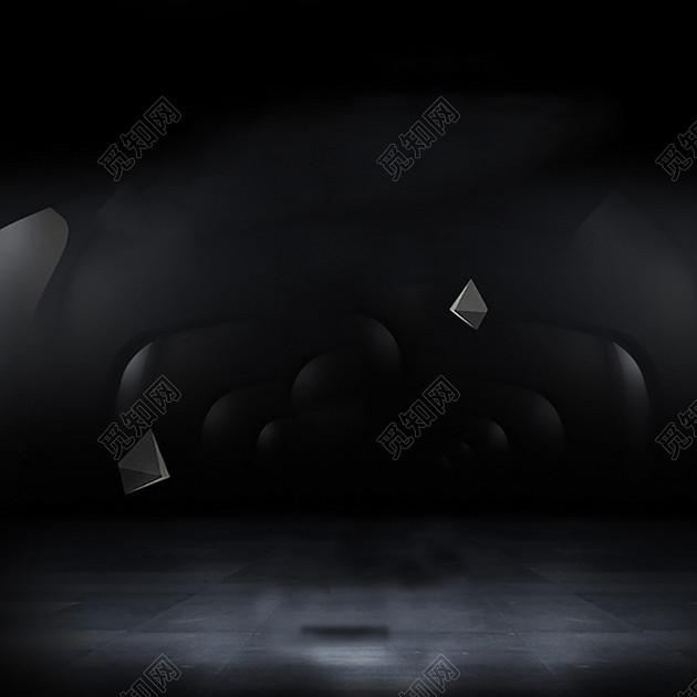 下载jpg下载psd 背景素材 黑色渐变炫酷几何立体块男士手表直通车钻展