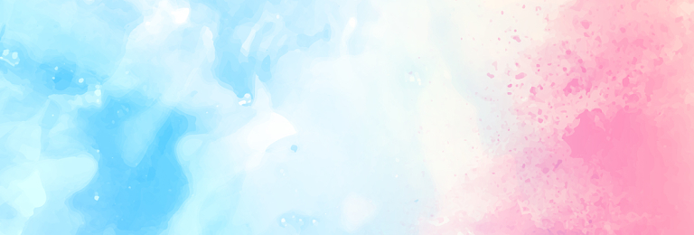 淡藍色淺色手繪清新簡約水彩彩色漸變風格教師節banne背景漸變