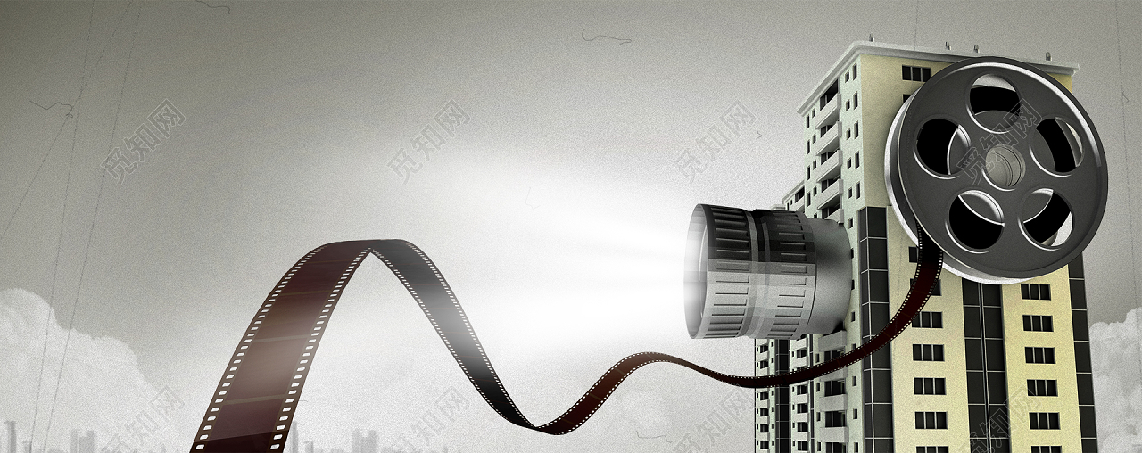 背景素材文艺风简约电影胶片海报背景标签:摄影 拍摄 影院 文艺 简约