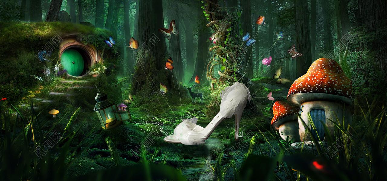 魔幻森林背景图片