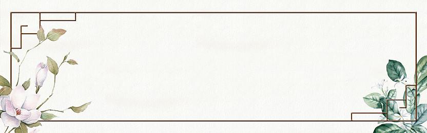 背景復古中國風邊框淘寶banner