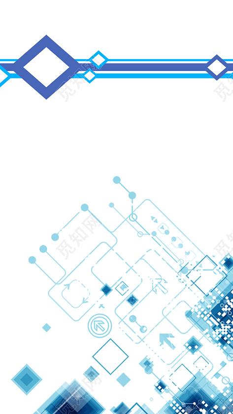 蓝色科技商务画册杂志封面设计背景图图片