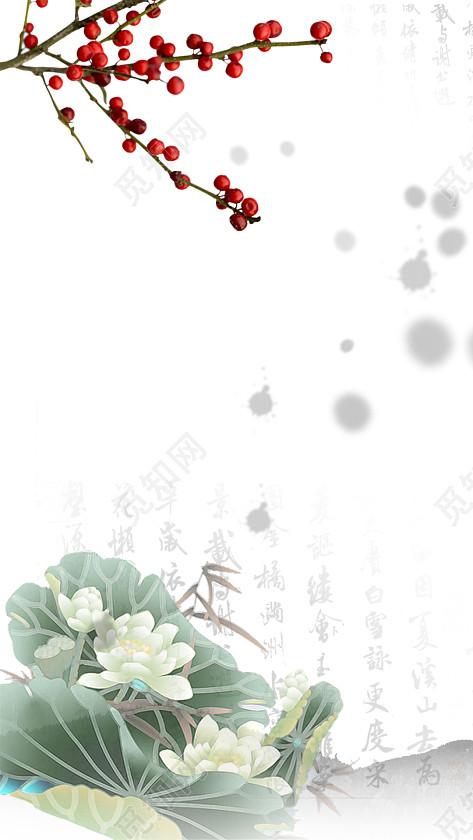 白色古风清新女装花瓣背景免费下载_背景素材_觅知网