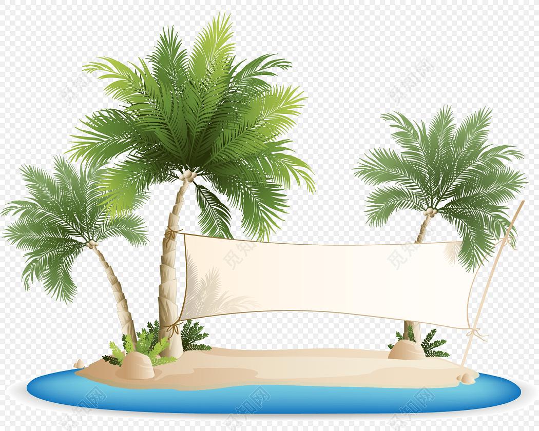 手绘卡通沙滩花纹花边边框素材