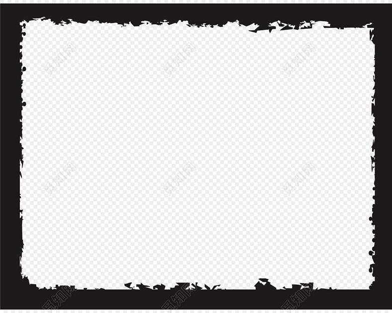 黑色简约图框图片矢量素材
