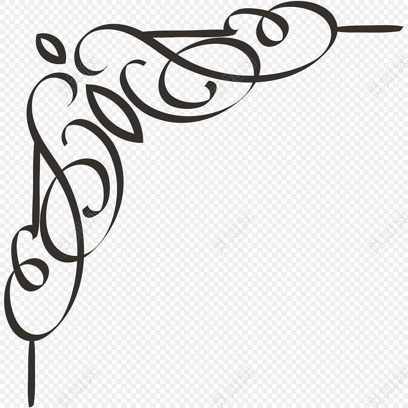 黑色简约花边边框图片矢量素材标签:花边边框 免抠素材 矢量素材 清新