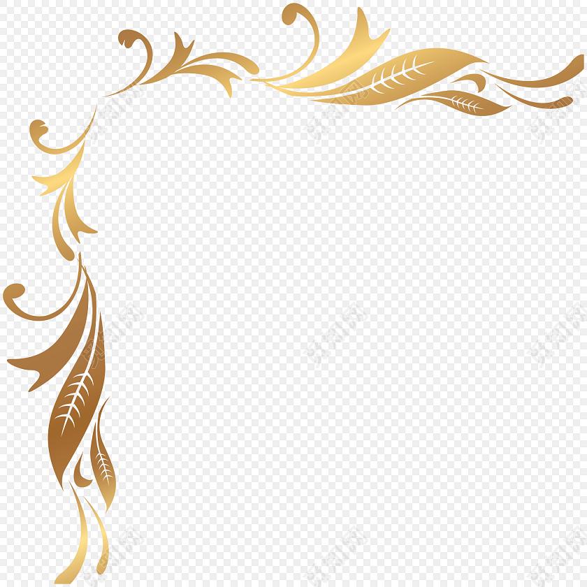 金色清新装饰花边边框素材标签:花边边框 免抠素材 矢量素材 古风