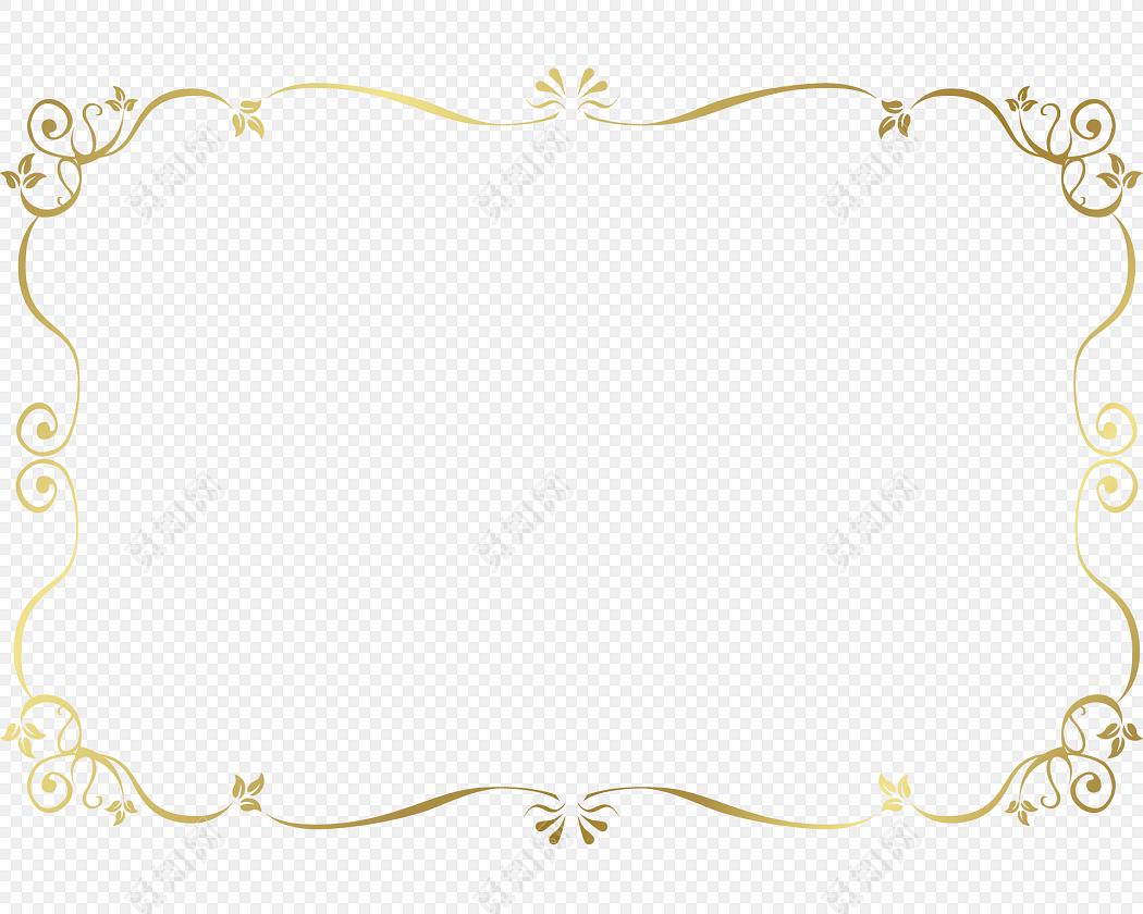 金色清新装饰花边边框素材标签: 花边边框 免抠素材 矢量素材 古风