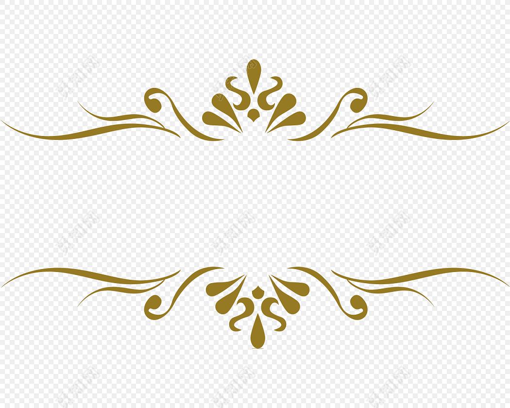 金色清新装饰花边边框素材