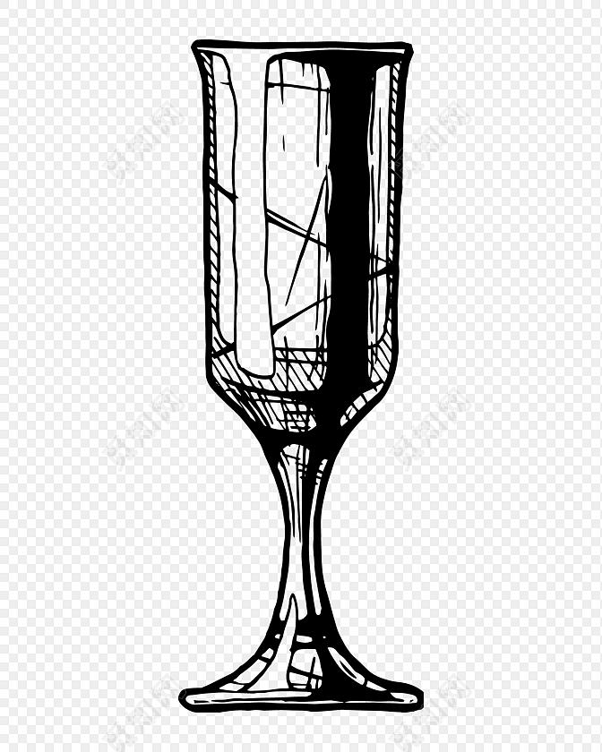 黑色手绘杯子涂鸦免费下载_png素材_觅知网