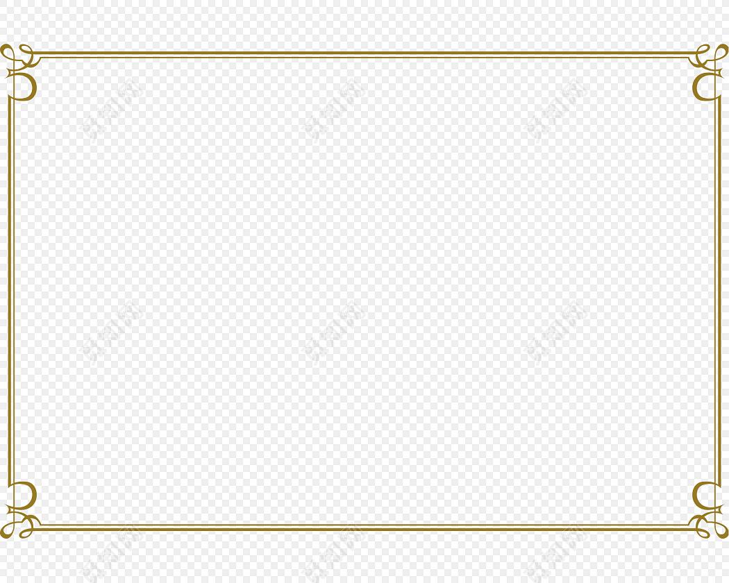 简约金色边框素材下载