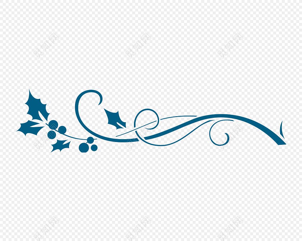 卡通花边装饰免抠素材标签:花边边框 免抠素材 矢量素材 蓝色 花纹