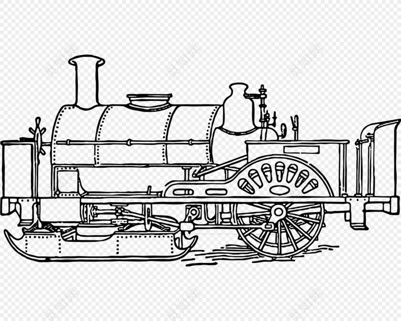 火车结构图素材