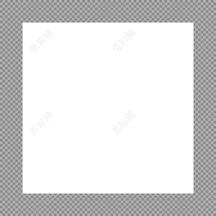 方形白底背景素材