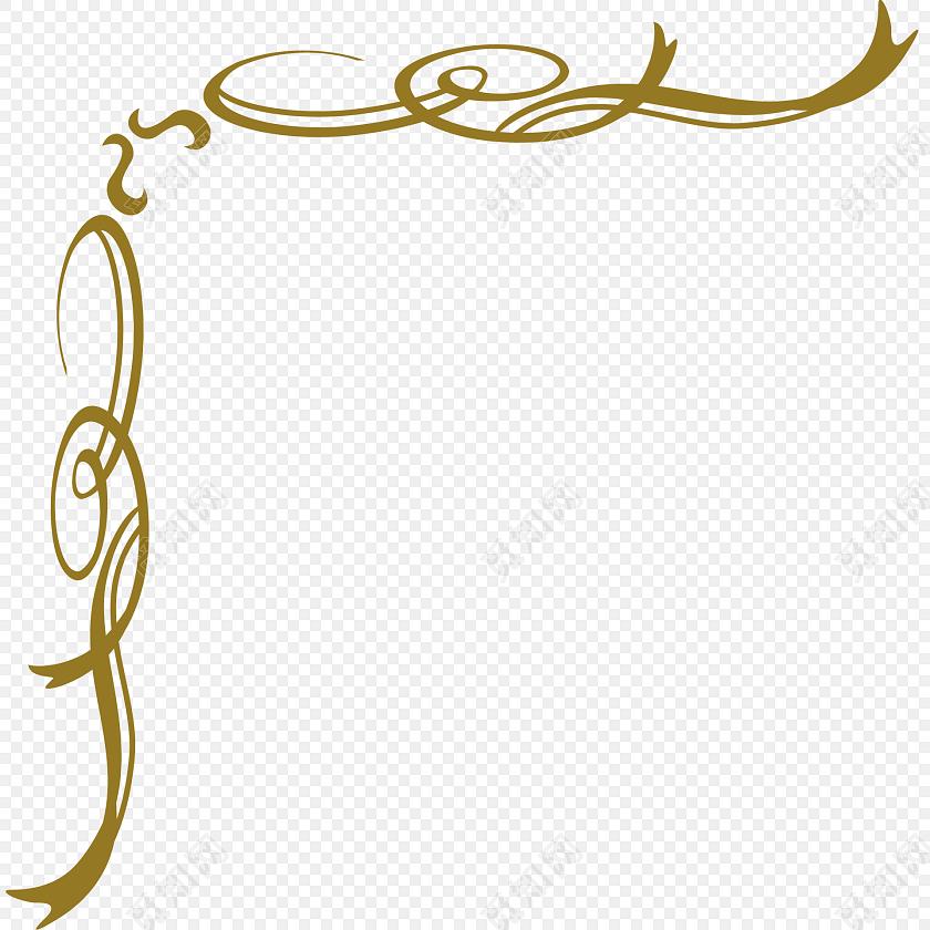 手绘卡通花边边框素材