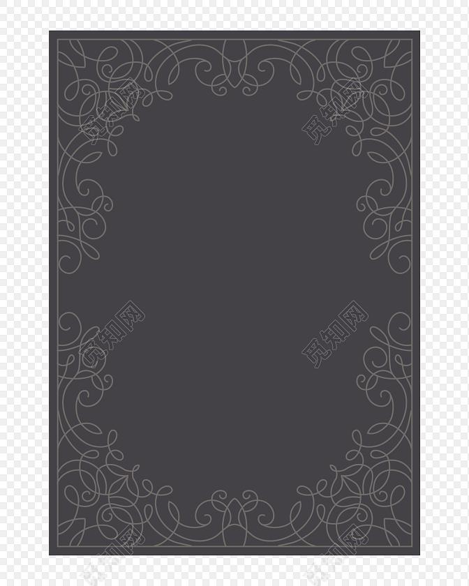 黑色商务高端边框装饰免抠素材