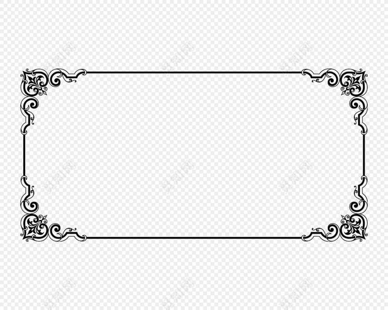 四方民族风花纹边框免费下载_png素材_觅知网