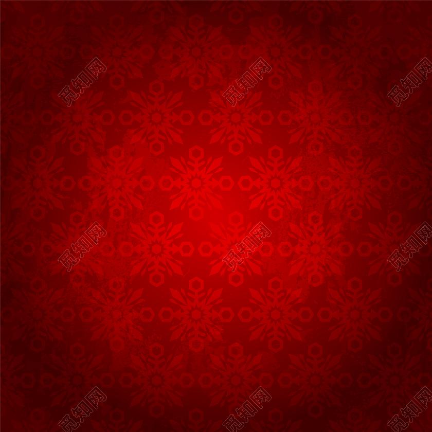 手绘红色花纹背景免抠素材