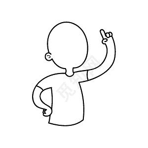 简约风简笔画小人轮廓 图片素材免费下载 觅知网