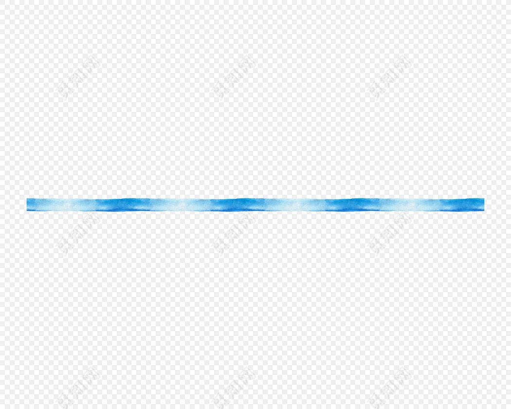 手绘蓝色分割线素材下载