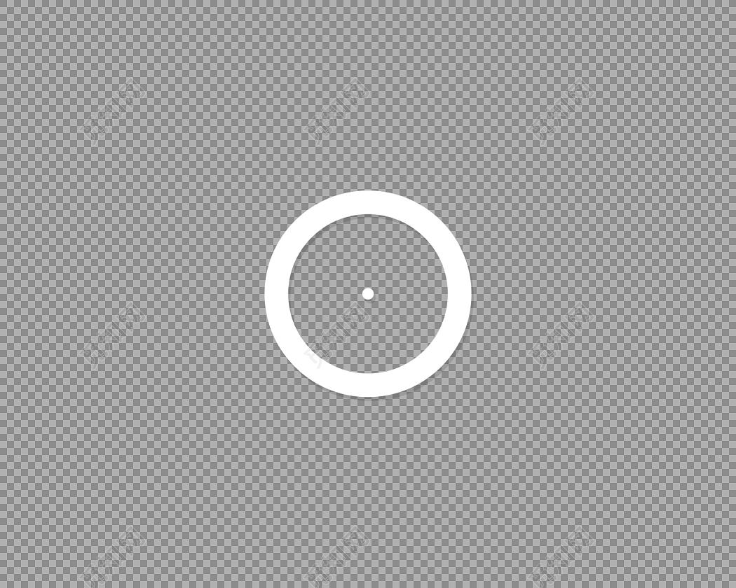 白色几何圆环装饰素材