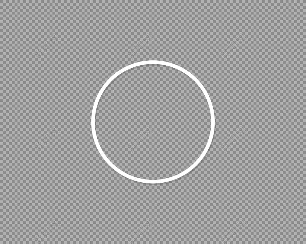 白色几何圆环扁平素材