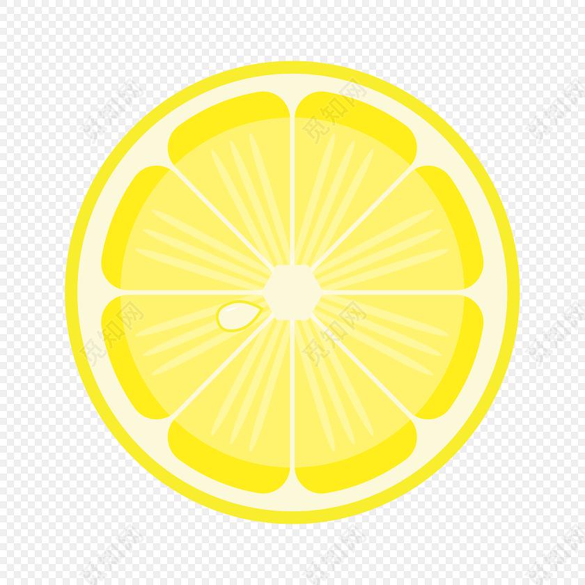 手绘卡通柠檬素材