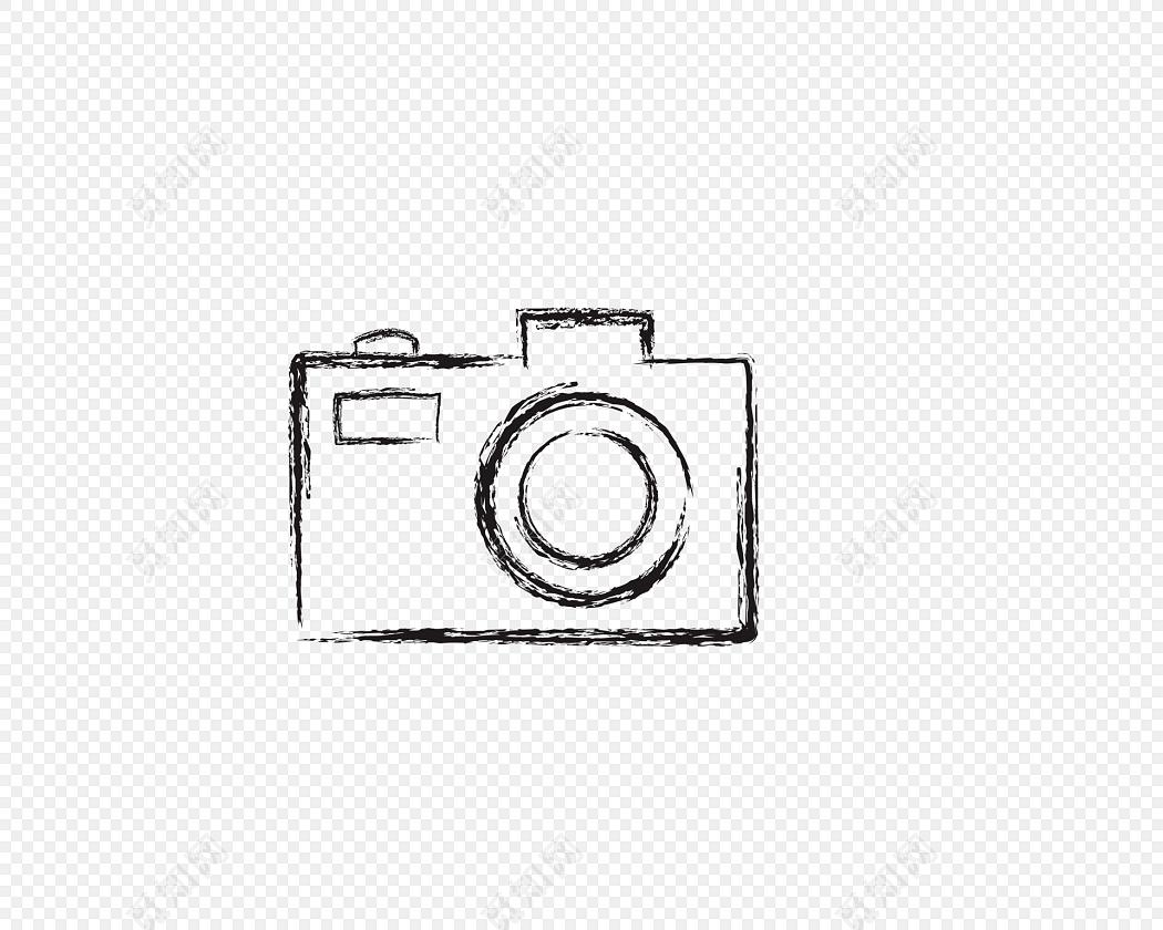 卡通手绘简笔画相机照相机