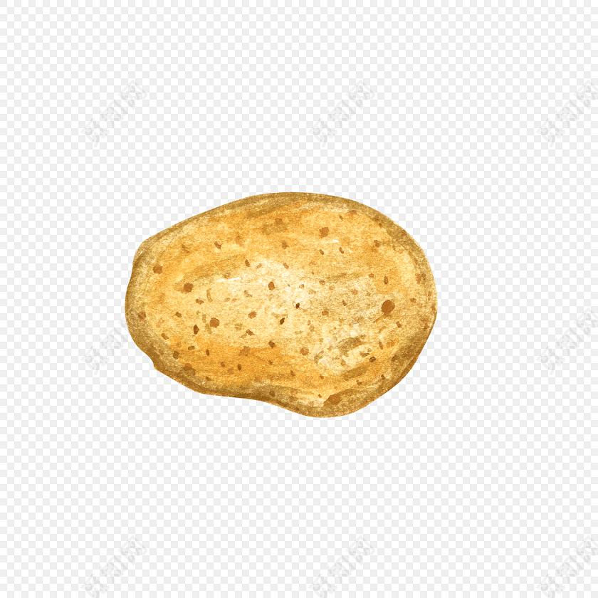 黄色土豆手绘素材