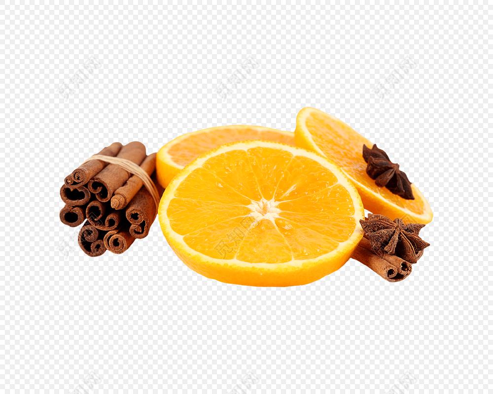 橙子装饰素材矢量图