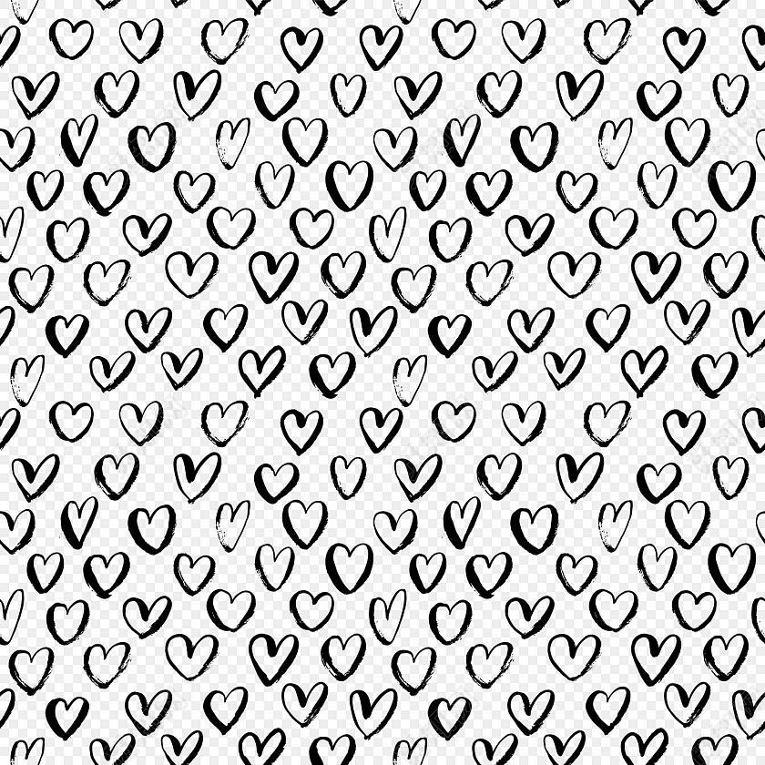 四方连续黑白花纹图案图片