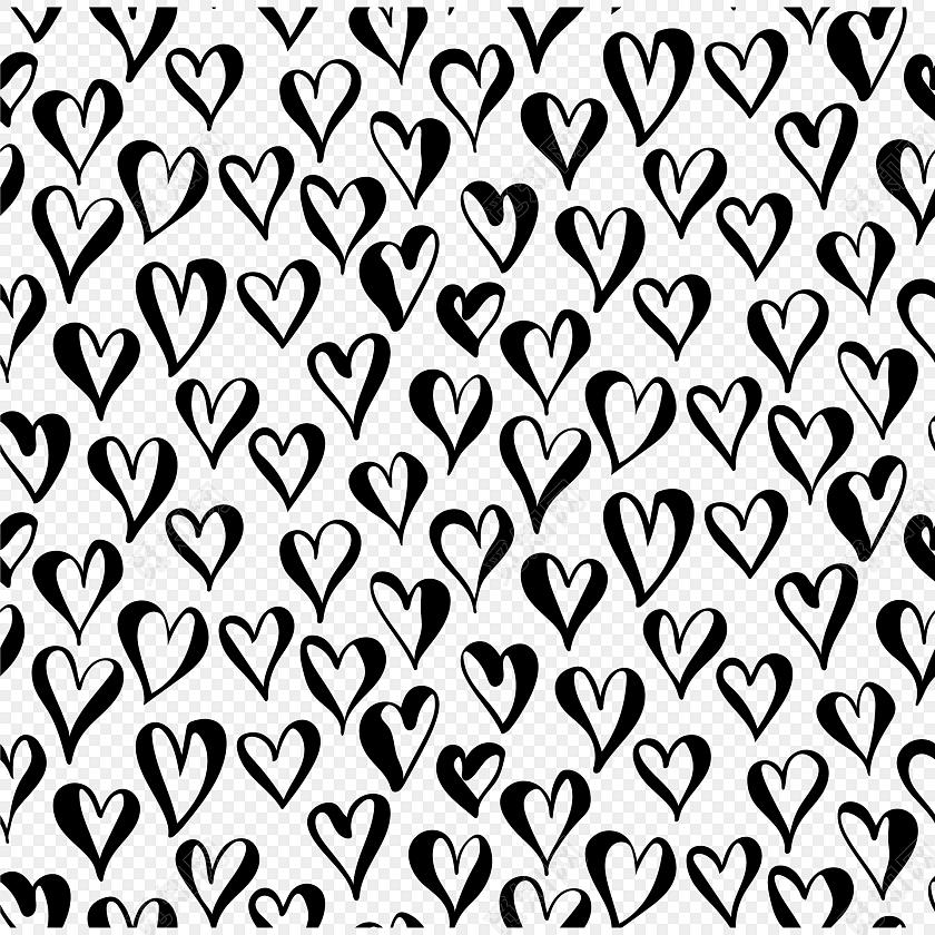 四方连续黑白花纹图案
