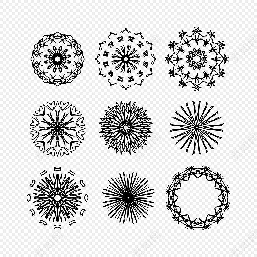 ai 免费下载ai png素材黑白欧式花纹图案图标标签:其他png 免抠素材