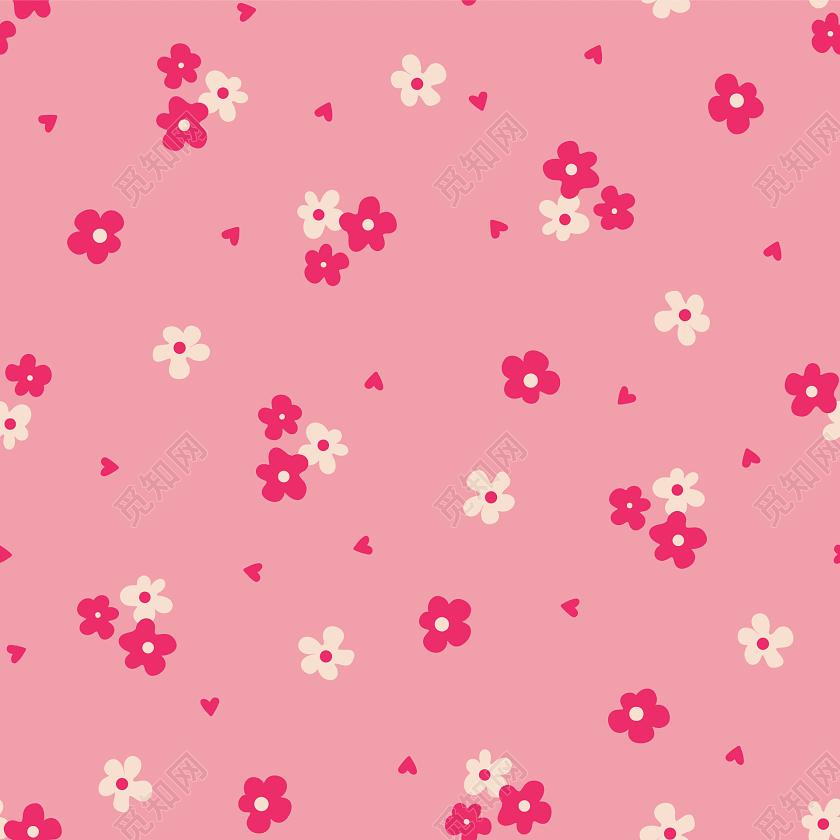 手绘粉色小花包装纸图案免费下载_png素材_觅知网